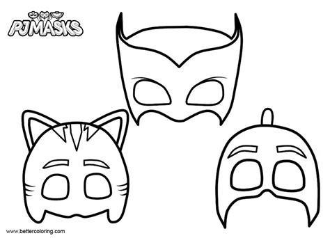 masks  pj masks catboy coloring pages  printable