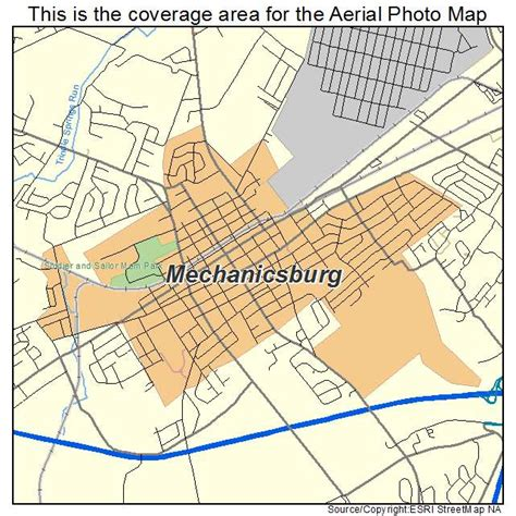 aerial photography map of mechanicsburg pa pennsylvania