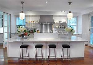Kitchen Kitchen Design Ideas For Big House Cool White Rectangle Modern Wooden Kitchen Cabinet