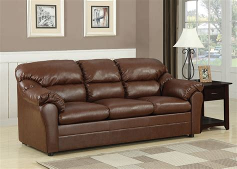 Brown Sofa Sleeper by Acme Connell Bonded Leather Match Sofa Sleeper In Brown 15153