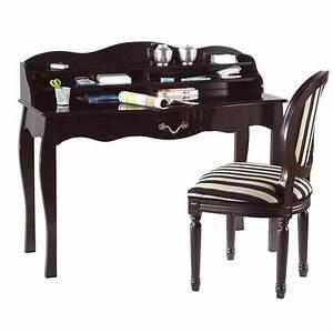 Petit Bureau Noir : bureau baroque noir 1 tiroir louisa achat vente bureau ~ Teatrodelosmanantiales.com Idées de Décoration