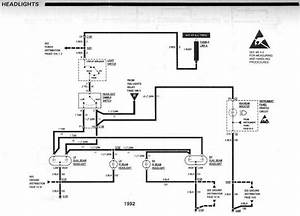 Toyota Headlight Wiring Diagram 1992