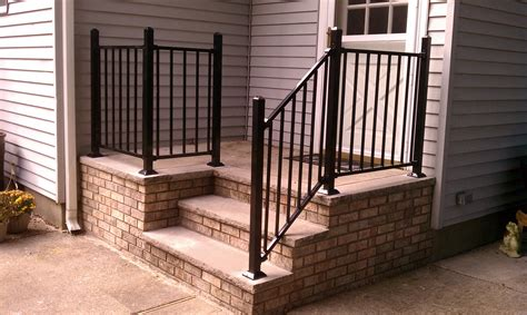 42 Metal Stair Railing Home Depot, Rdi 8 Ft X 34 In Black