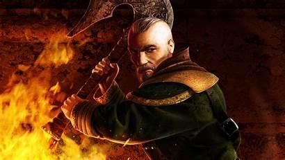 Wielding Axe Magician Rpg Risen Action Games