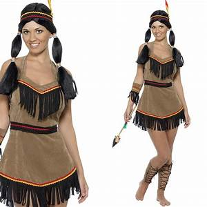 Indianer Damen Kostüm : damen indianer kost m fancy dress indianer squaw wilder westen ebay ~ Frokenaadalensverden.com Haus und Dekorationen