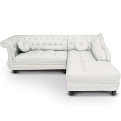 canape chesterfield blanc canapé d 39 angle blanc chesterfield pas cher déco