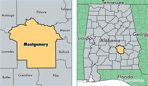 Montgomery Alabama County Map