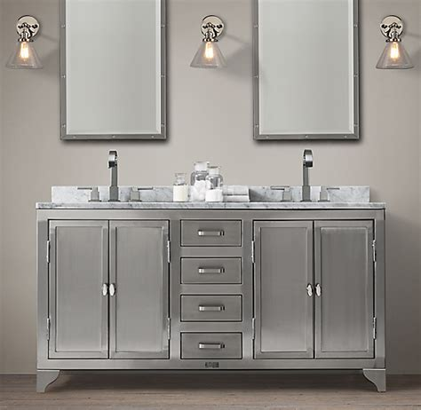laboratory stainless steel double vanity