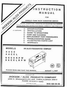 Jackson    Dalton Dishwasher 66cerpw Installation Manual