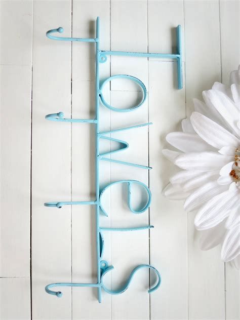 aquamarine pool sign towel holder pool decor  willowsgrace