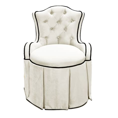 tufted vanity chair glam haute house home