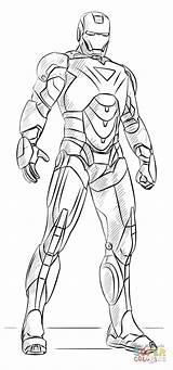 Iron Coloring Pages Drawing Ironman Printable Draw Paper Colorings Crafts sketch template