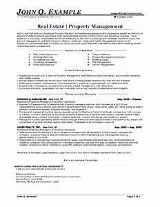 property management resume free samples examples With free property management resume templates