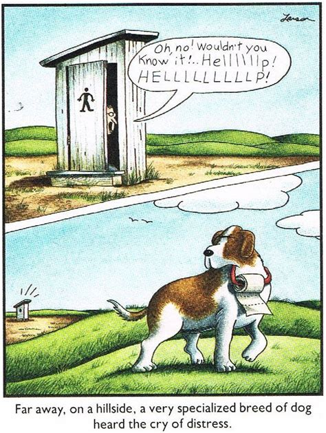 classic farside cartoon   sort  rescue dog