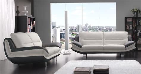 canape bicolore design nashik cuir ou microfibre bicolore personnalisable sur