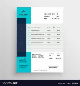 Modern Invoice Template Free Modern Blue Creative Invoice Template Design Vector Image