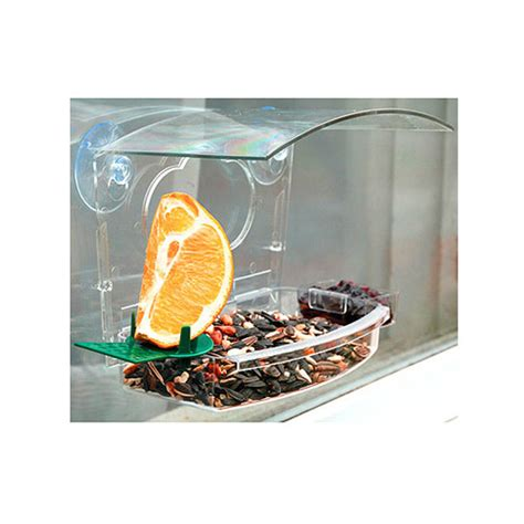 audubon 7 5 quot mixed treat window feeder attracts all