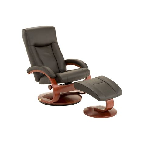 top grain leather swivel recliner with ottoman mac