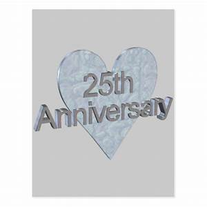 25th wedding anniversary gifts postcard zazzle With 25th wedding anniversary gifts