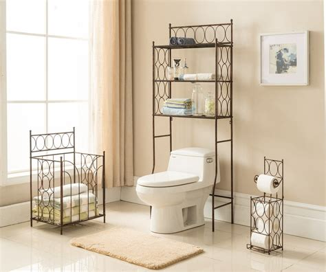 etagere bathroom 3 copper iron transitional etagere the toilet