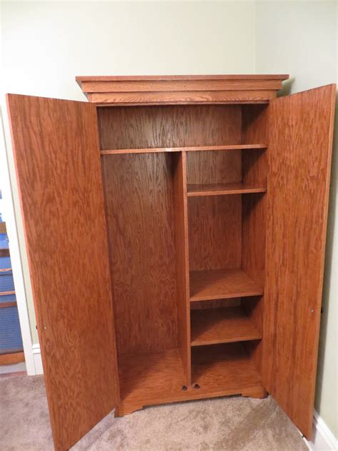 ana white simple armoire diy projects