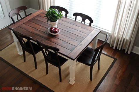 diy dining table plans rustic dining room table plans large and beautiful