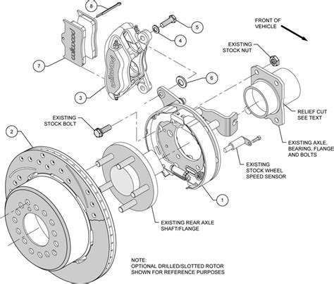 2005 Ford Mustang Part Diagram by Wilwood Disc Brake Kit 2005 Newer Ford Mustang 13 Quot 12