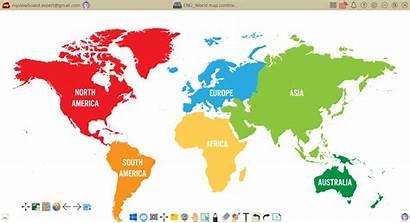 Map Continents Myviewboard Illustrazione Vettoriale Divisa Diverso