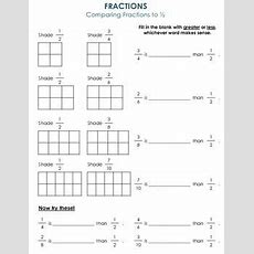 Comparing Fractions To 12  Activities To Help Compare And Order Fractions Comparing