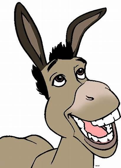 Shrek Donkey Clip Clipart Cartoon Cliparts Burro