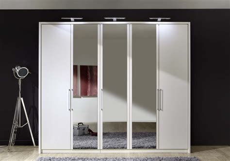 Wooden Wardrobe With Mirror by Stylform Linus Hinged Door Wardrobe Wood And Mirror