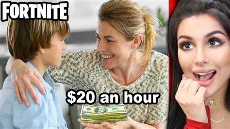 kids  paid  parents  play fortnite youtube