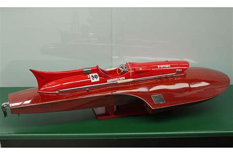 Using these products can help the artist express themselves in. Sold: Model Boat - Ferrari Hydroplane Replica (120cm long ...