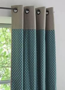 Rideau Bleu Pétrole : pois canvas bleu canard inspiration d co maison ~ Farleysfitness.com Idées de Décoration