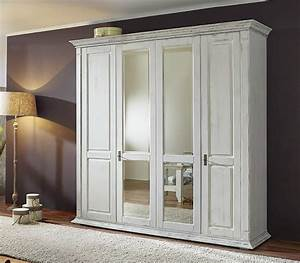 Kleiderschrank Weiß Vintage : kleiderschrank schrank 39 montreal 39 4 t rig kiefer wei ~ Watch28wear.com Haus und Dekorationen