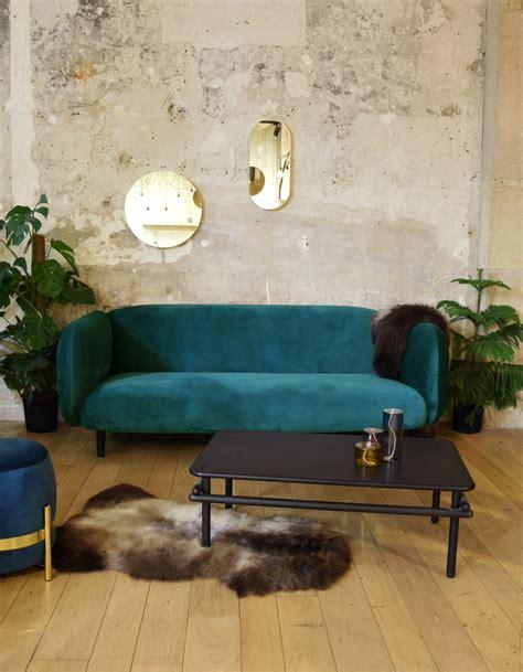 canape en velour canap 233 en velours notre shopping pour un salon