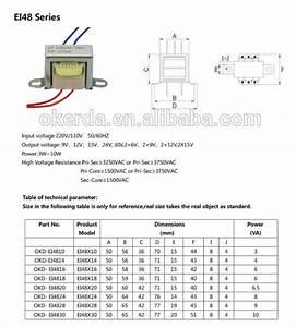 Ei48x30 10w Lead Wire Transformer 220v 18v