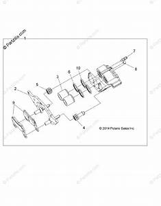 Polaris Side By Side 2015 Oem Parts Diagram For Brakes