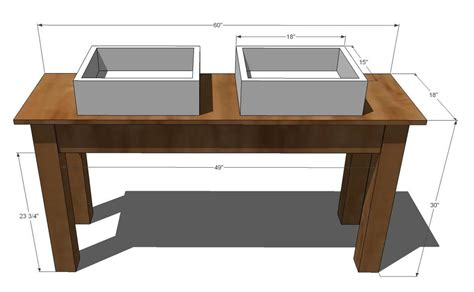 woodwork mission style vanity plans  plans