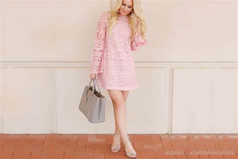 Pink Lace Dress + How To Shop Shein
