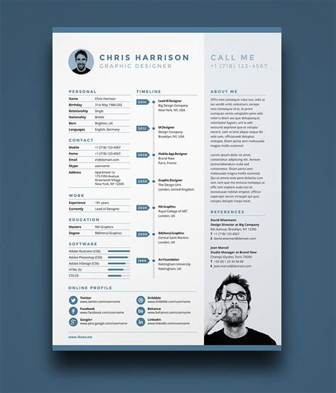 direct download cv templates psd 10 fresh free resume cv design templates 2018 in word
