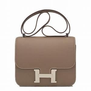 Hermes Constance Bag 24cm Etoupe Epsom Palladium Hardware ...  Hermes