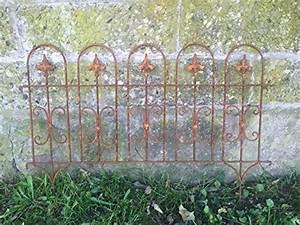 Zaunelemente Aus Metall : beetzaun gartenzaun windsor rankhilfe metall eisen rost deko 58cm hoch x 81cm lang ~ Sanjose-hotels-ca.com Haus und Dekorationen