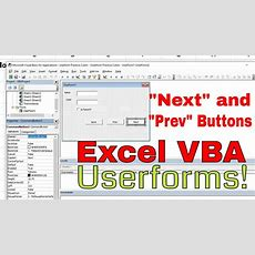 Capture Worksheet Info To Userform And Save  Next And Prev Buttons  Excel Vba Is Fun! Youtube