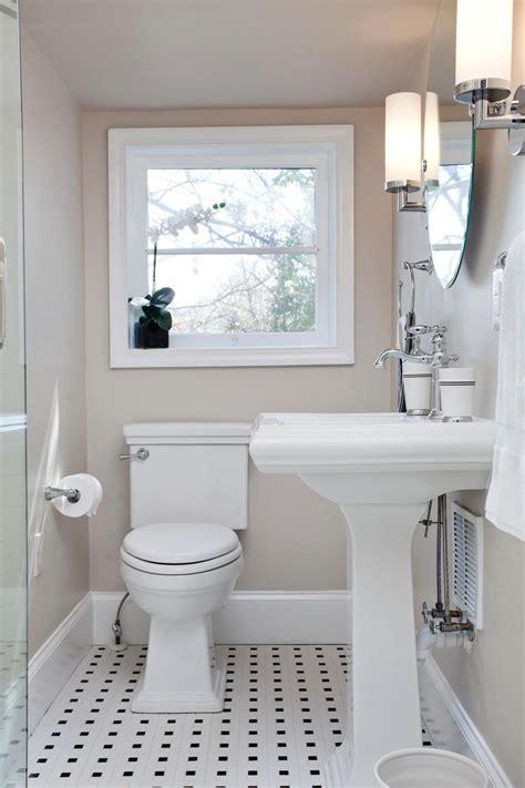 transitional bathroom boasts retro black white tile