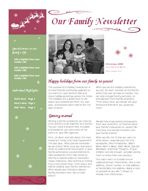 holiday newsletter recipe cards spirit design works with avery 5889 2 per page office templates