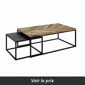 Table Gigogne Maison Du Monde : coup de cur pour la table gigogne chevron with maison du monde table basse gigogne ~ Teatrodelosmanantiales.com Idées de Décoration