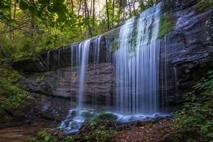 Waterfall, Rock, Grass, Wallpaper, Hd, Nature, 4k, Wallpapers