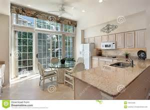 kitchen counter decor ideas kitchen with sliding doors to patio royalty free stock