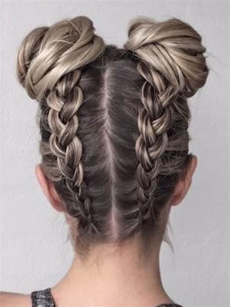 Cool Hairstyles With Braids by Boxer Braids Into Buns I This Hairstyle Because It